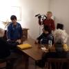 Dreharbeiten in Umbrien, Nov. 2019, mit der Familie des Malers Cesare Mirabella.